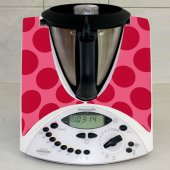 Sticker Thermomix TM 31 Rotund Rosu