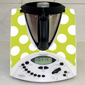 Sticker Thermomix TM 31 Verde cu Buline