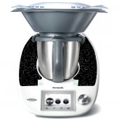 Sticker Thermomix TM 5 Banda fond Negru
