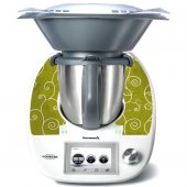 Sticker Thermomix TM 5 Banda pe fond Verde