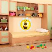 Autocollant Stickers enfant abeille miel