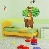 Autocollant Stickers enfant arbre animaux