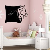 Stickers ardoise cheval