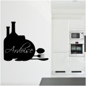 Stickers ardoise cuisine couverts