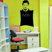 Stickers ardoise lionel messi