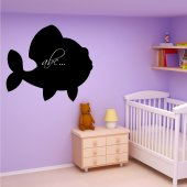 Stickers ardoise poisson