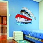 Autocollant Stickers enfant bateau