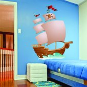 Autocollant Stickers enfant bateau pirate