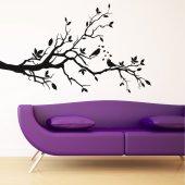 Stickers Branche Oiseau