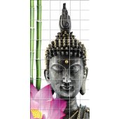 Stickers carrelage bouddha