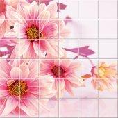 Stickers carrelage fleurs