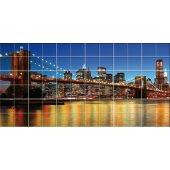 Stickers carrelage pont new york