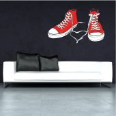 Autocollant Stickers ado chaussure rouge