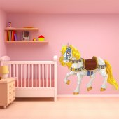 Autocollant Stickers enfant cheval princier