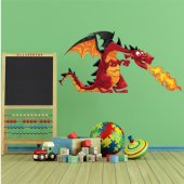 Autocollant Stickers enfant dragon
