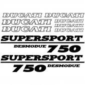 Autocollant - Stickers Ducati 750 desmodue