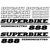 Autocollant - Stickers Ducati 888 desmoquattro