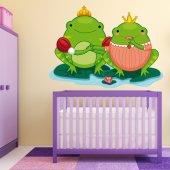 Autocollant Stickers enfant grenouille princesse