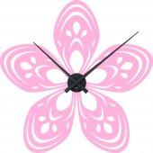 Stickers Horloge fleur