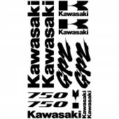 Autocollant - Stickers Kawasaki GPZ 750
