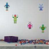 Autocollant Stickers enfant kit 5 robots