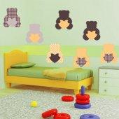 Autocollant Stickers enfant kit 9 oursons