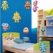 Autocollant Stickers enfant kit 9 robots
