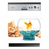 Stickers lave vaisselle aquarium
