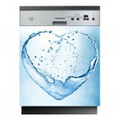 Stickers lave vaisselle coeur