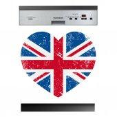Stickers lave vaisselle coeur anglais