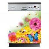 Stickers lave vaisselle fleurs papillons