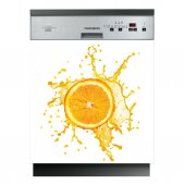 Stickers lave vaisselle orange