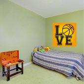 Autocollant Stickers ado love basketball