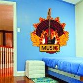 Autocollant Stickers ado musique feu