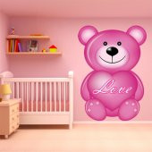 Autocollant Stickers enfant ourson love
