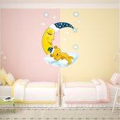 Autocollant Stickers enfant ourson sommeil