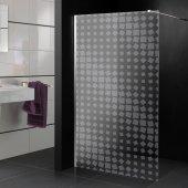 Stickers paroi de douche dépoli carrés design 3