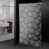 Stickers paroi de douche dépoli cercle design