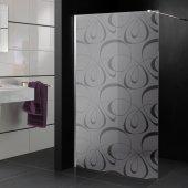 Stickers paroi de douche dépoli design 8