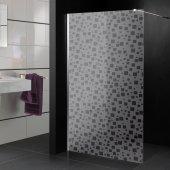 Stickers paroi de douche dépoli multicarrés