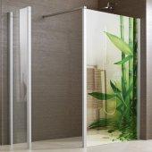 Stickers Paroi de douche semi translucide bambous