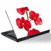 Stickers PC Orchidée Rouge
