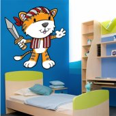 Autocollant stickers enfants tigre pirates