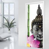 Stickers porte Bouddha Zen