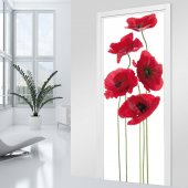 Stickers porte coquelicot 2