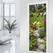 Stickers porte Jardin