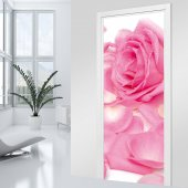 Stickers porte Rose Zoom
