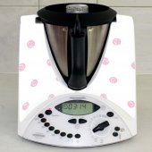 Stickers Thermomix TM31 Blanc à pois rose