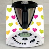 Stickers Thermomix TM31 Coeurs multicolor