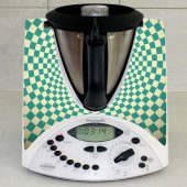 Stickers Thermomix TM31 Damier turquoise